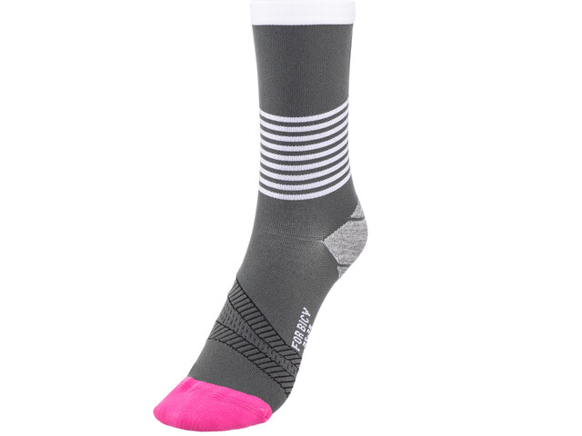 FOR.BICY Ring Master Socks Damen grey/white/pink